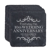 Personalized Anniversary Slate Coaster