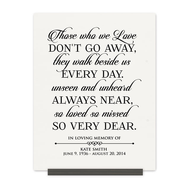 Personalized Wedding Memorial Bereavement Wall Sign - Those We Love