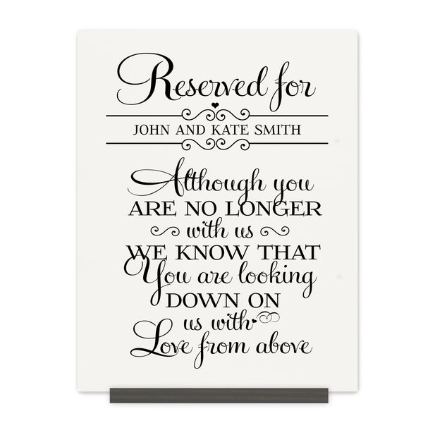 Personalized Wedding Memorial Bereavement Wall Sign - Reserved