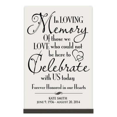 Personalized Digitally Printed Base Memorial Sign - Celebrate