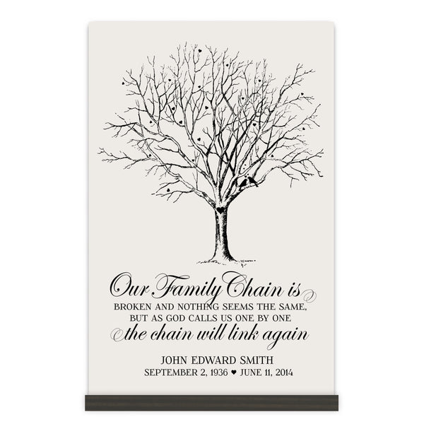 Personalized Digitally Printed Base Memorial Sign - Family Chain