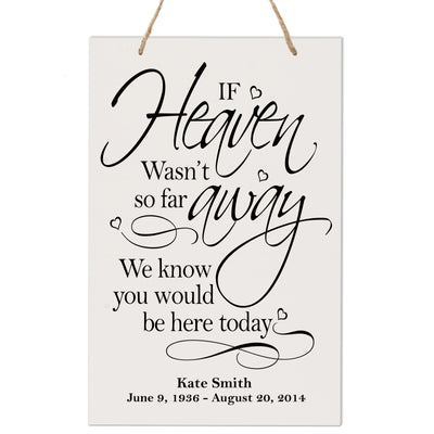 Personalized Digitally Printed Hanging Memorial Sign - If Heaven