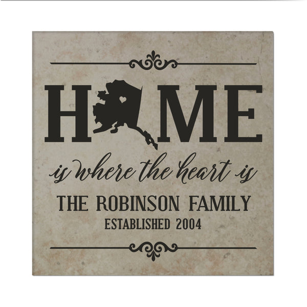 "Lifesong Milestones Personalized Home State Tile Trivets for Hot Dishes, Pots, and Pans - Family Established Housewarming Gift - Extra Thick 5.75"" x 5.75"""