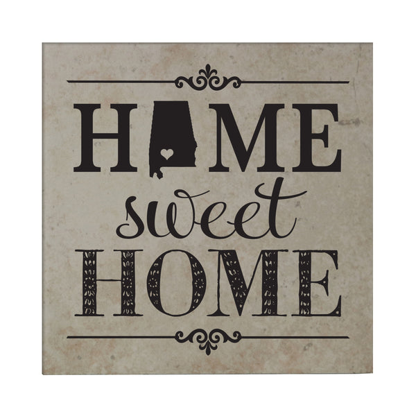 "Lifesong Milestones Home State Tile Trivets for Hot Dishes, Pots, and Pans - Family Established Housewarming Gift - Extra Thick 5.75"" x 5.75"""