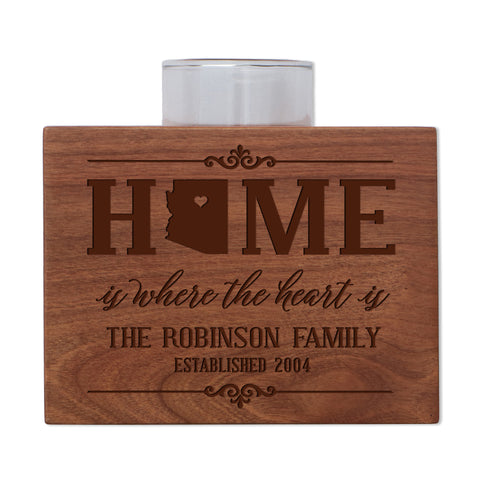 Personalized State Family Candle Holder - Southwest Region