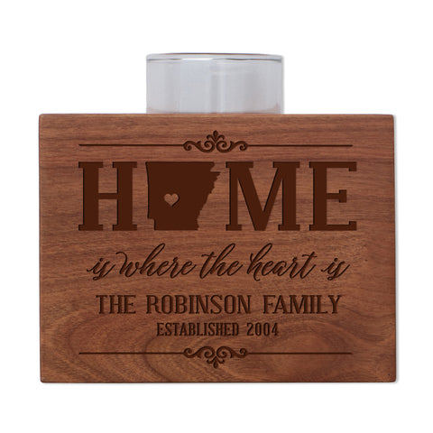 Personalized State Family Candle Holder - Southeast Region