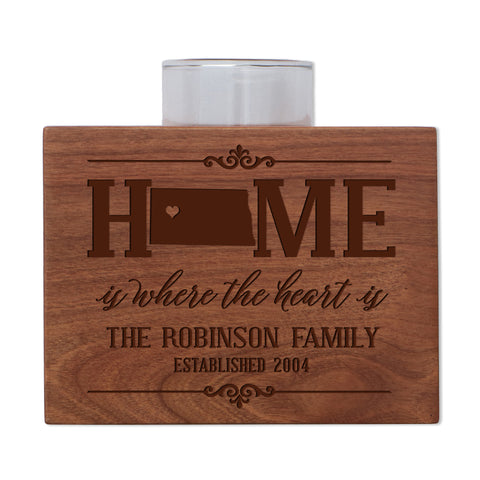 Personalized State Family Candle Holder - Midwest Region