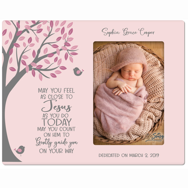 Personalized Baptism Blessing Frame For Newborn -May You Feel