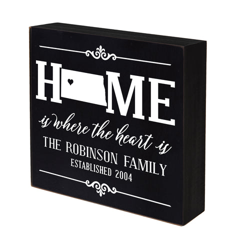 LifeSong Milestones Personalized Home State Shadow Box Home Sweet Home Table and Shelf Sitter - Wall Decor Family Established Housewarming Gift - 6x6