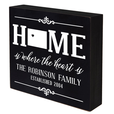 LifeSong Milestones Personalized Home State Shadow Box Home Sweet Home Table and Shelf Sitter - Family Established Housewarming Gift - 10x10