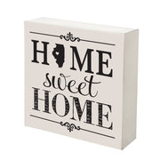 LifeSong Milestones Home State Shadow Box Home Sweet Home Table and Shelf Sitter - Wall Decor Family Established Housewarming Gift - 6x6
