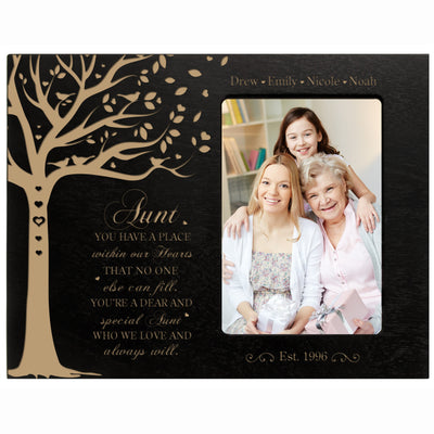 "Personalized Mother's Day Picture Frame 4"" x 6"" Have A Place Aunt"