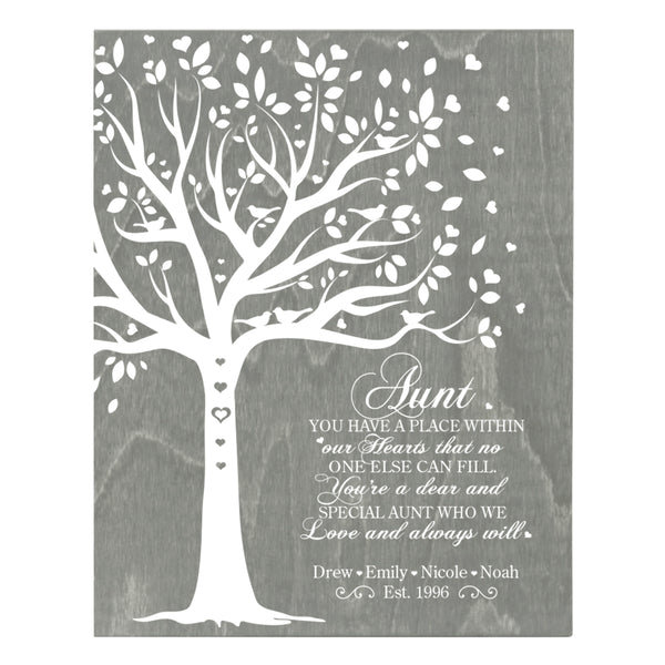 Personalized 8 x 10 Mother's Day Plaque - You Have A Place - Grey