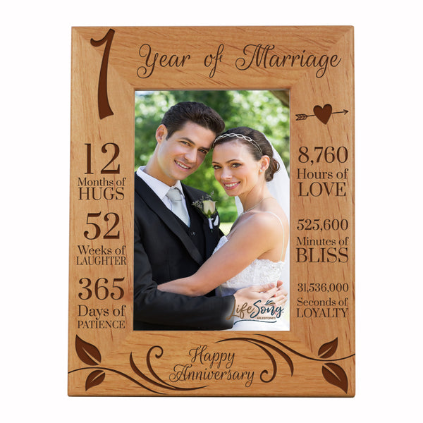Engraved 1st Anniversary Photo Frame