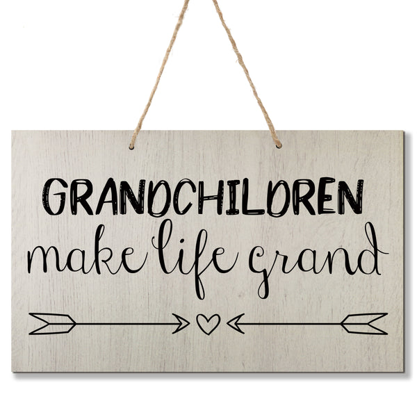 Personalized Grandparent Wall Hanging Sign Gift - Make Life Grand