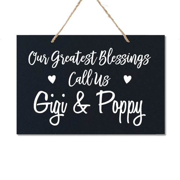 Personalized Grandparent Wall Hanging Sign Gift - Our Greatest Blessings
