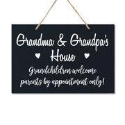 Personalized Grandparent Wall Hanging Sign Gift - Grandchildren Welcome