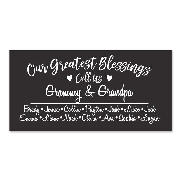 Lifesong Milestones Personalized Grandparent Family Name wall plaque sign Grandmother Grandfather gift ideas for Home 8 x 16