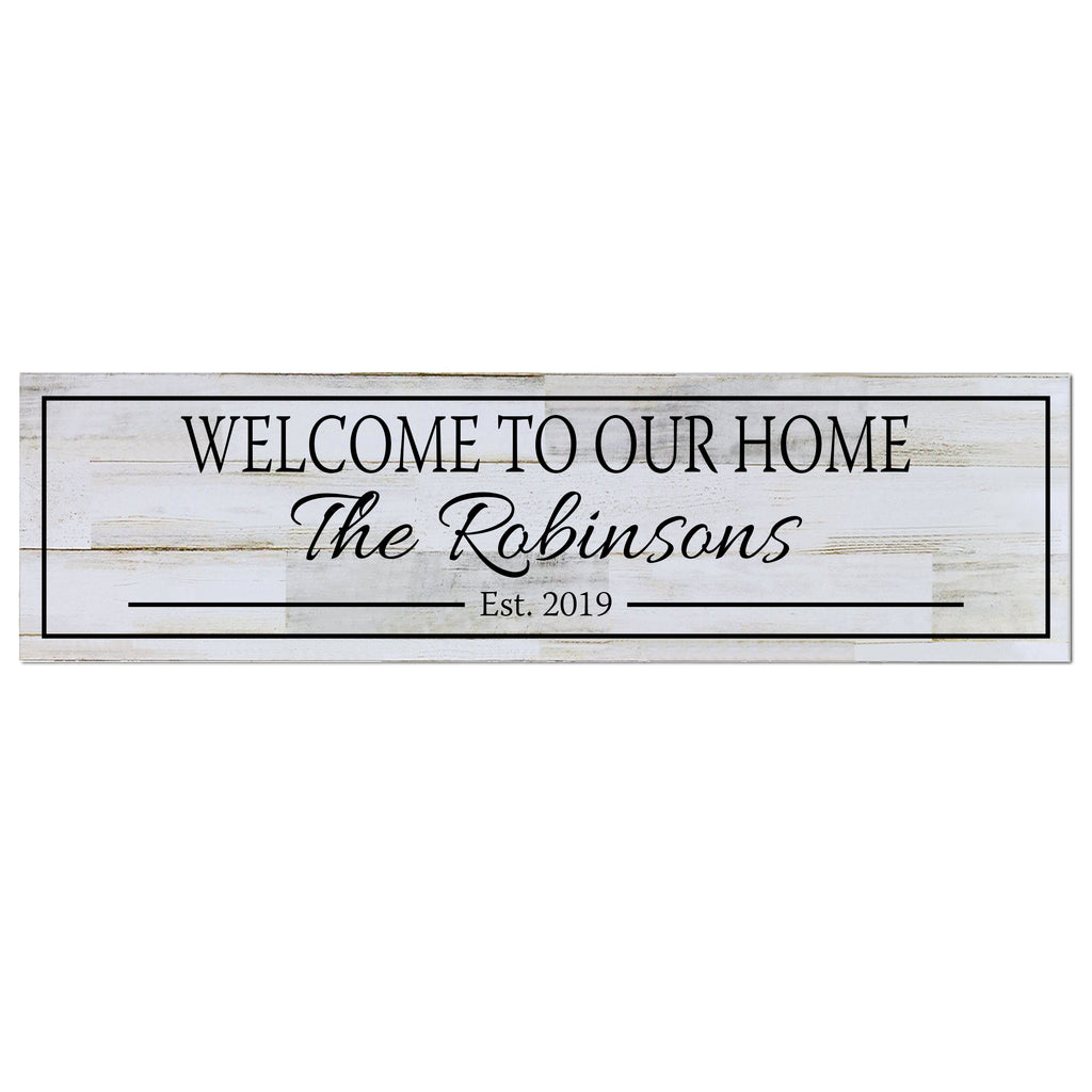 Personalized Wall Decor Family Established Signs Welcome To Our Home