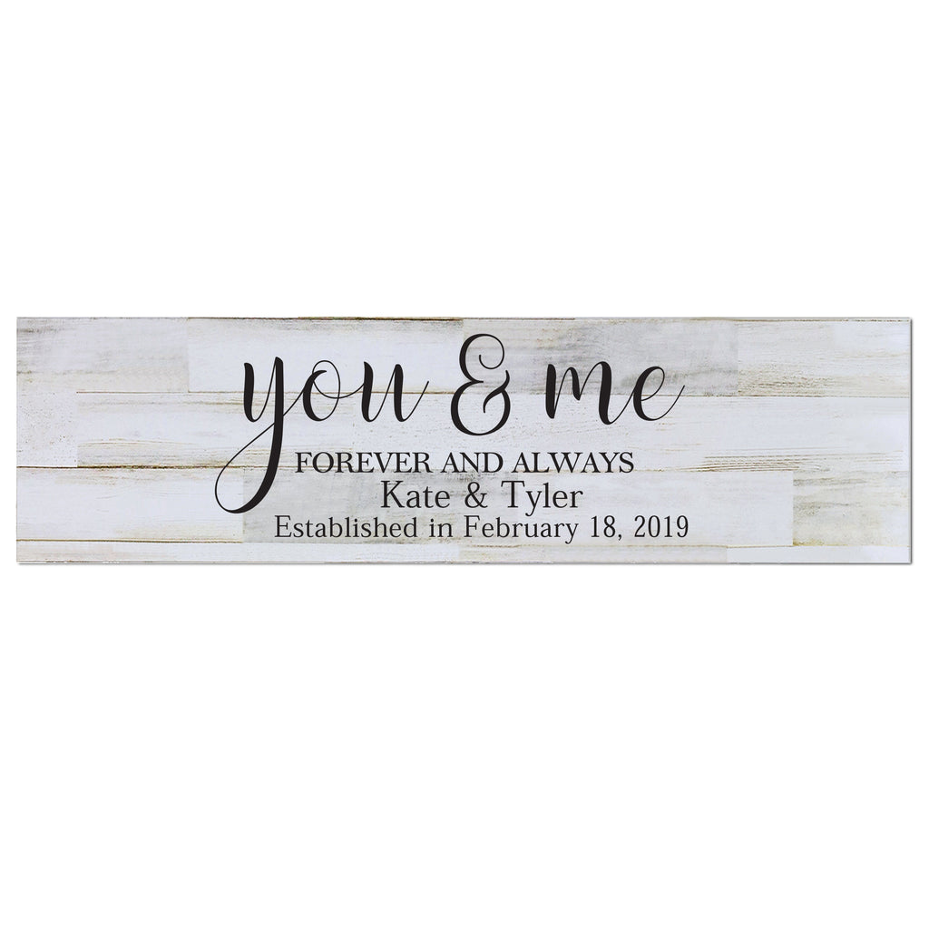 Personalized Wall Decor Family Established Signs You Me