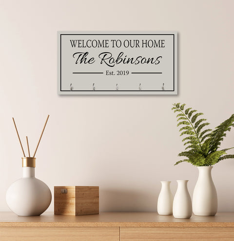Personalized Established Key Holders - Welcome To Our Home