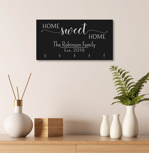 Personalized Established Key Holders - Home Sweet Home
