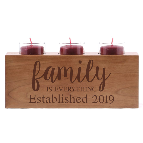 Personalized Handcrafted Home Candle Holder - Family Is Everything