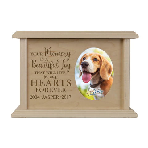 LifeSong Milestones Personalized Large Dog Pet Urn Memorial Keepsake Dog Urn Box - Cremation Puppy Keepsake Holds 65 Cubic Inches Measures 8.75x6.25x4