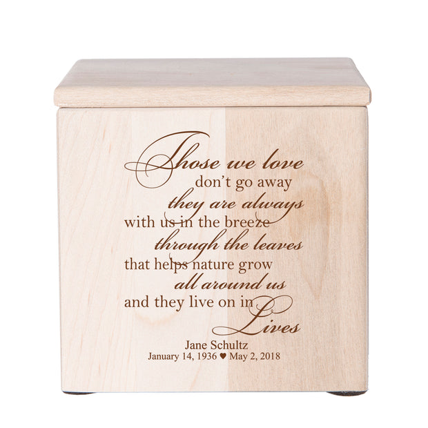 "LifeSong Milestones Memorial Keepsake Bereavement Keepsake Box Loss of Loved One Sympathy Home Decor - 4.5"" x 4.5"" x 4.75"""