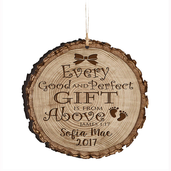 Personalized Couple Christmas New Parents Ornaments - Good And Perfect