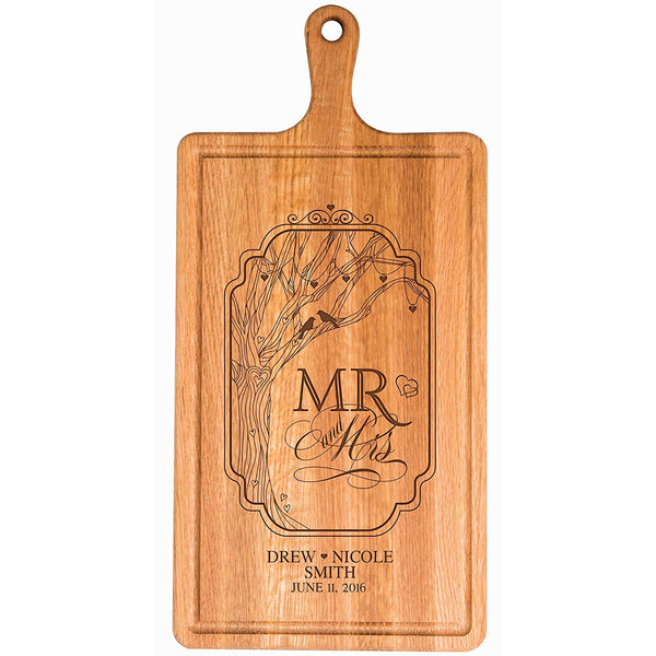 Personalized Family Wedding Cutting Board Gift - Mr. and Mrs.
