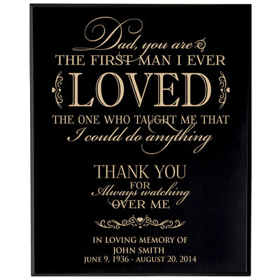 Personalized Wedding Memorial Wall Plaque - First Man I Ever Loved