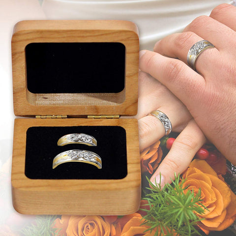 "Personalized Wedding Ceremony Ring Box ""Grow Old With Me"""