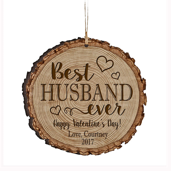 LifeSong Milestones Personalized Valentine's Day Ornament Custom Engraved Best Husband Ever Best Wife Ever