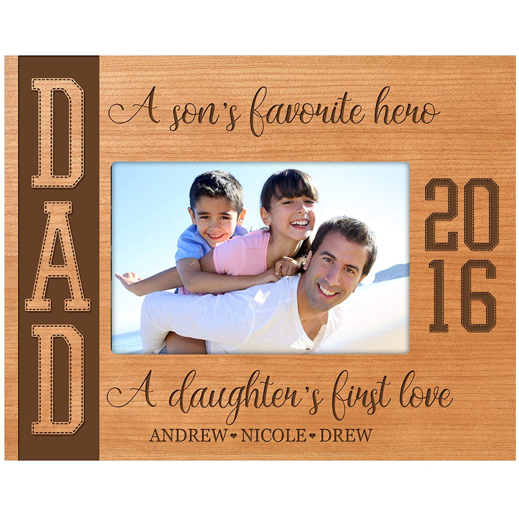 LifeSong Milestones Personalized Gifts For Dad Engraved Birthday Custom Picture Frame A Sons
