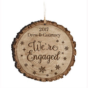 Personalized Couple Christmas Engaged Ornaments We're Engaged