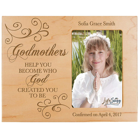 Personalized Godmother Gift Photo Frame - Help You Become Maple