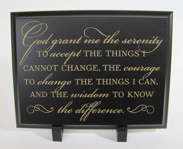 Engraved Serenity Prayer Wall Decor Plaque God Grant Me the Serenity 8 Inches x 6 Inches