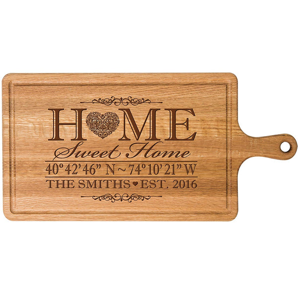 Personalized Cherry Cutting board Home Sweet Home Wedding Gift ideas for Him Her Couple Cheese Chopping Board established signs with dates by LifeSong Milestones
