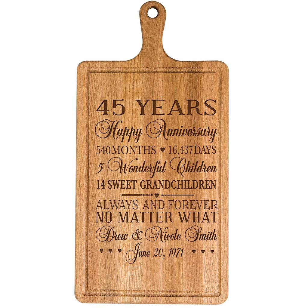 Personalized 45th Year Anniversary Gift For Him Her Wife Husband