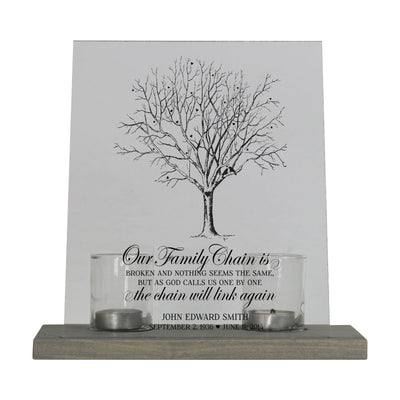 "Memorial Candle Holder 8"" x 10"" Acrylic Sign with Gray Base"