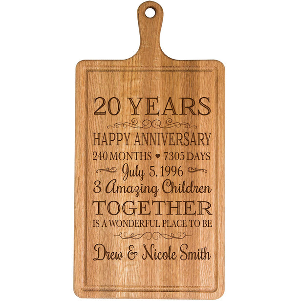 Personalized 20th Anniversary Cutting Board - Wonderful Place