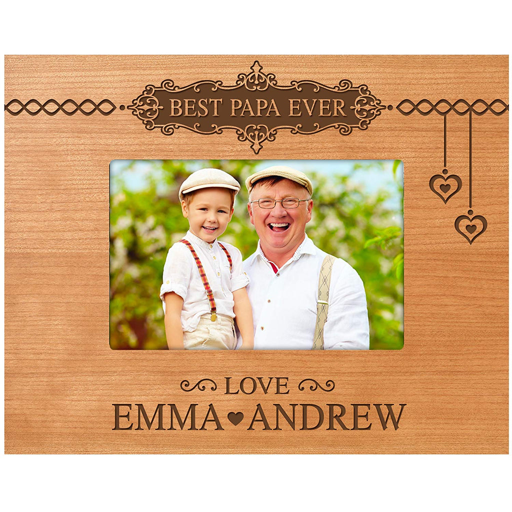 LifeSong Milestones Personalized Gifts For Dad Engraved Birthday Custom Picture Frame Best Papa