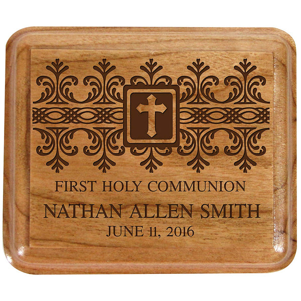 Personalized 1st Holy Communion Keepsake Box Custom Sacraments Baptism gifts By LifeSong Milestones