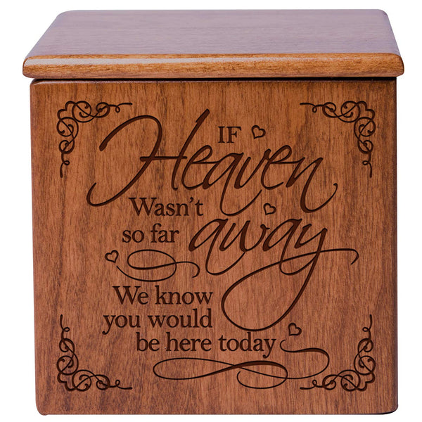 Human Or Pet Cremation Urn - If Heaven Cherry
