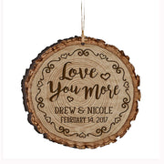 Personalized Valentine's Day Ornaments Love You More