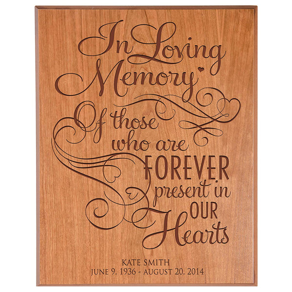 Personalized Wedding Memorial Wall Plaque - In Loving Memory of Those Who Are Forever Present In Our Hearts