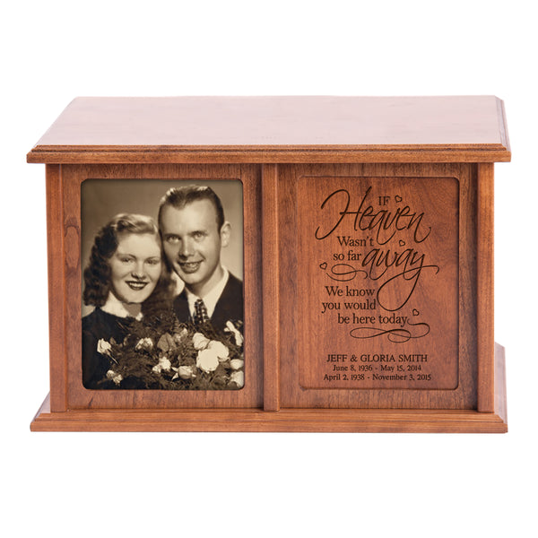 Personalized Double Adult Human Cremation Urn - If Heaven