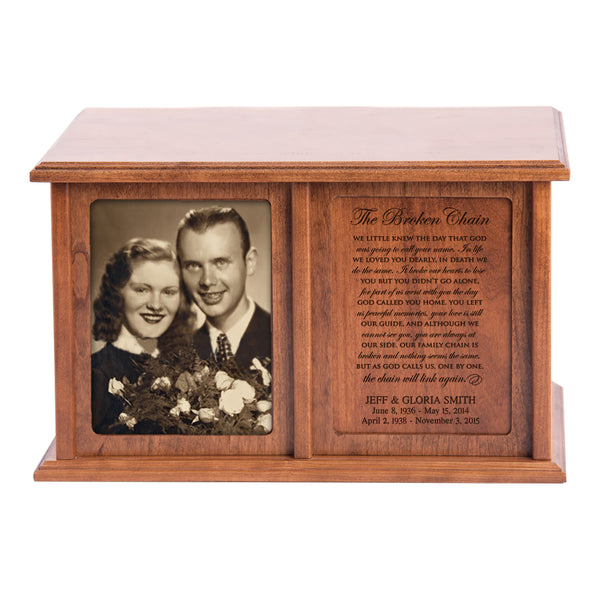Personalized Double Adult Human Cremation Urn - The Broken Chain