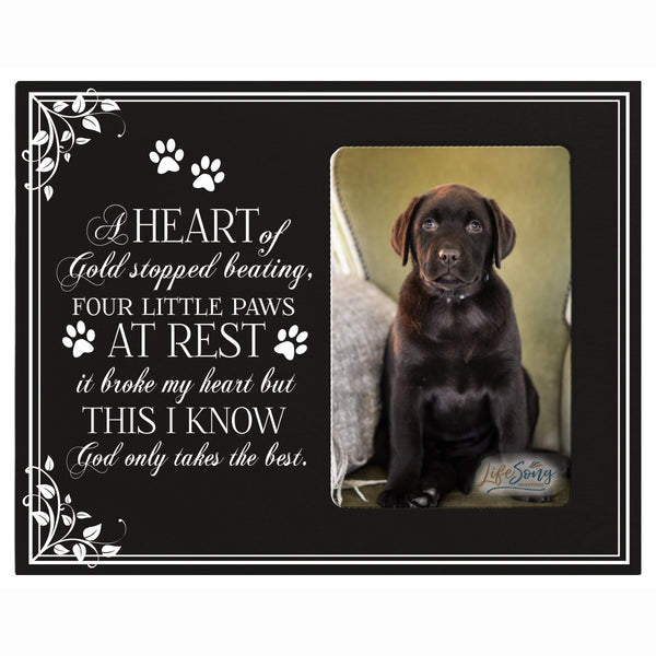 in loving memory pet bereavement gift sympathy memorial keepsake grieving photo frame A Heart Of Gold